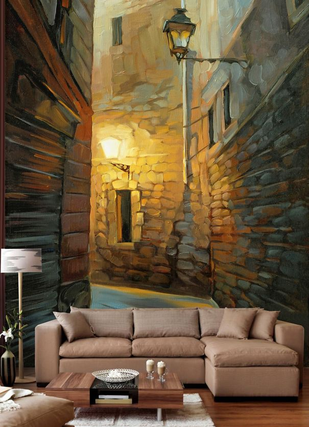 Wall murals for your home for Best paint for a wall mural